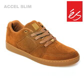 es/エス スケートシューズ スニーカー アクセル ACCEL SLIM BROWN GUM アクセル スリム スケシュー スケボーシューズ スケートボード P06May16