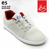 es/エス スケートシューズ スニーカー アクセル ACCEL SLIM WHITE/RED アクセル スリム スケシュー スケボーシューズ