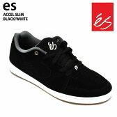 es/エス スケートシューズ スニーカー アクセル ACCEL SLIM BLACK/WHITE アクセル スリム スケシュー スケボーシューズ