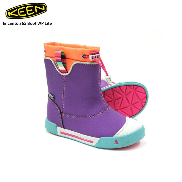 KEEN キーン Encanto 365 Boot WP Lite Purple Heart/Fusion Coral キッズ トレッキングシューズ アウトドア【クエストン】画像