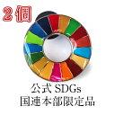 \正規販売店/ 国連本部限定販売 SDGs ピンバッジ 日本未発売 UNDP 丸みタイプ 2個 バッチ 国連 おすす...
