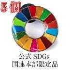 \正規販売店/ 国連本部限定販売 SDGs ピンバッジ 日本未発売 UNDP 丸みタイプ 5個 バッチ 国連 おすすめ 正規品 sdgs 17 目標 公式