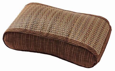 送料無料 い草 ウェーブ枕 まくら 低反発 アジアン 和モダン 南風 ネイビー 寝具 睡眠 ピロー 腰枕