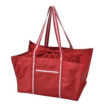 エコマイラインバッグ/買い物トートバッグ 【レッド】 レジカゴ対応 ポリエステル製【代引不可】