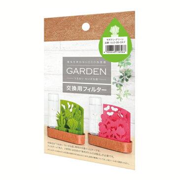 送料無料 自然気化式加湿器うるおい小さな庭 サボテン寄せ植え 交換フィルター