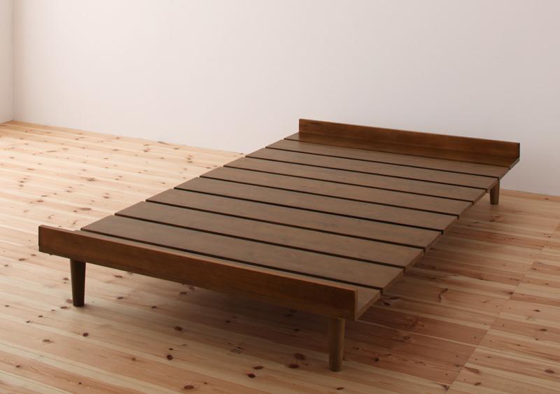 (送料無料) ベッド セミシングル フレームのみ ショート丈 リネンなし コンパクトベッド セミシングルベッド 北欧デザイン 木製ベッド ベット ニエル セミシングルサイズ 省スペース 狭い部屋 子供用ベッド 子供部屋 通気性 すのこ仕様 湿気対策 北欧 女性