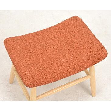 送料無料 スツール【2個セット】 オレンジ 玄関 椅子 チェア キッチン キッズチェア 完成品 コンパクト 子供【VH-7947OR】