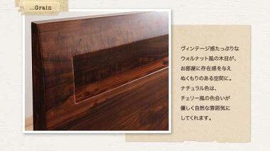 すのこベッドセミダブルフレームマットレス付き木製セミダブルベッド棚コンセント付きデザインすのこベッド桐すのこ-ハーゲン-【羊毛入りデュラテクノマットレス付き】セミダブル送料無料【通販家具】