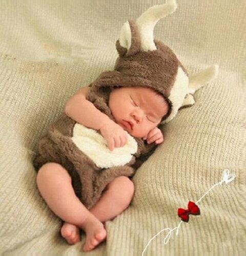ベビー赤ちゃん服男の子女の子着ぐるみ馴鹿となかいトナカイクリスマスカード誕生日写真撮影ギフト誕生日プレゼント贈答品売れ筋10P24Oct15