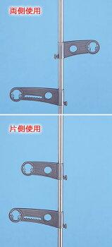 屋外物干しセット【竿2本付き】セキスイステンレスつっぱり物干台&ハンガー掛け付き物干し竿2.2〜3m(洗濯物干しスタンド)