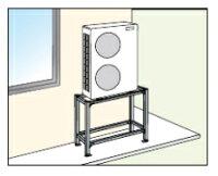 オーケー器材PAキーパー高置台溶融亜鉛メッキ仕上げK-KHZ158G