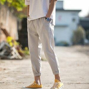 【全8色、M-5XLサイズ】ロングパンツ メンズ カーゴパンツ 9分丈 大きいサイズ ゆったり 夏服 大きいサイズ 全8色 ボトムス カジュアルパンツ リネンパンツ 薄手送料無料