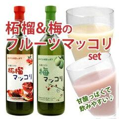 2本セットでちょっぴりお買い得♪【常温・冷蔵可】甘酸っぱくて美味しい フルーツマッコリセッ...