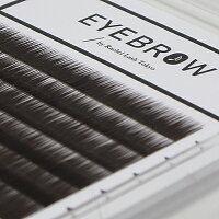 長さミックス眉毛エクステダークブラウン0.10mm×6mm,7mm,8mm