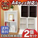 カラーボックス 2段 A4 2個セット CX-2F 送料無料 A4サイズ 同色2個セット 収納 二段 カラボ 収納ボックス 本棚 書棚 おもちゃ アイリスオーヤマ 収納用品 家具 収納棚 白 黒 ブラウン おしゃれ BOX 収納棚 押入れ収納 a4