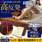【送料無料】アイリスオーヤマ高反発マットレスMAK8-Sシングルサイズベージュ・ダークブラウン
