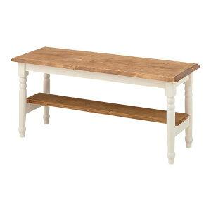 【送料無料】【TD】ベンチCFS-212椅子イスいす木製北欧ナチュラル白シンプル腰掛ガーデン長椅子ガーデンベンチフレンチカントリー【東谷】【取寄せ品】