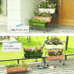 【プランター】【ガーデン】【フラワーポット】【園芸】【菜園】プリントプランターフラワーバスケット4個セット650タイプ【ホワイト】【ブラウン】【グリーン】