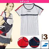 [テニス・バドミントン ウェア(レディース) バボラ]ゲームシャツ/レディース(BAB-1639W)