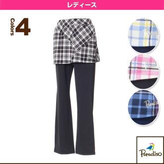 [paradizotenisu·羽球服裝(女子的)]從屬于球場的網絲褲子/女士(FCL11K)