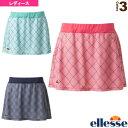 [エレッセ テニス・バドミントン ウェア(レディース)]プラクティススカート(P)/Practice Skirt(P)/レディース(EW28307)