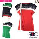 [セントクリストファー テニス・バドミントン ウェア(レディース)]クロスラインゲームTシャツ/レディース(STC-AIW6181)