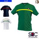 [セントクリストファー テニス・バドミントン ウェア(メンズ/ユニ)]Vネックグリッドゲームシャツ/メンズ(STC-BKM1163)