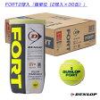 【ポイント5倍】[ダンロップ テニスボール]FORT(フォート)『2球入×30缶』(DFDYL2TIN)