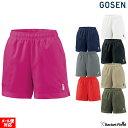 ソフトテニス バドミントン ウェア ゴーセン GOSEN レディース ハーフパンツ PP1601 テニス硬式 軟式 バ...