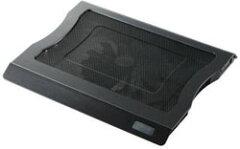 大型ファン採用ノートパソコン冷却台「冷え冷えクーラー」[15.4〜17型ワイド用] SX-CL10LBKELEC...