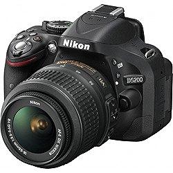 デジタル一眼レフカメラ D5200 18-55 VR レンズキット ブラック【送料無料】ニコン D5200LKBK