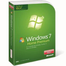 マイクロソフトWindows 7 Home Premium(J)アップグレード版 Service Pack 1 適用済み