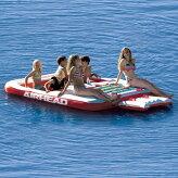 フローティングアクアラウンジ水上マット6人乗り水遊び浮輪水上基地