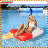 フローティングアイスキャンディ柄アクアラウンジ水上マット水遊び浮輪
