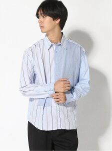 [Rakuten Fashion]【SALE/67%OFF】(M)ストライプデザインシャツL RAGEBLUE レイジブルー シャツ/ブラウス 長袖シャツ ブルー ベージュ【RBA_E】