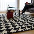 おしゃれ でお値打ち! モノトーン ラグ 絨毯 約 3畳 用 じゅうたん 160×225 送料無料 ウィルトン織 リビング ラグ カーペット ラグマット ベルギー絨毯 ブラック 黒