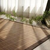 竹ラグ 天然素材 バンブー カーペット ラグマット 夏 涼感!エコ素材 絨毯 130×180cm カラー ブラウン、ベージュ 全国送料無料 夏用 イ草 籐、あじろに匹敵