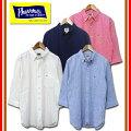 フェローズPHERROW'Sリネン混七分袖ボタンダウンシャツ16S-P7BD1