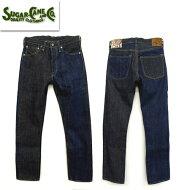 SC41701 砂糖黍製 琉球藍混×HAWAII藍混 14oz DENIM SLIM MODEL