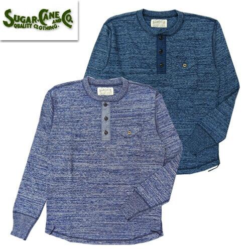 トップス, Tシャツ・カットソー () SUGAR CANE FICTUON ROMANCE SC68349 4NEEDLES INDIGO HENLEY NECK T T 2019