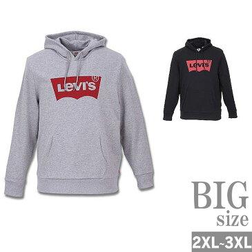 プルオーバーパーカー 長袖 大きいサイズ メンズ Levi's リーバイス ロゴプリント C300725-17