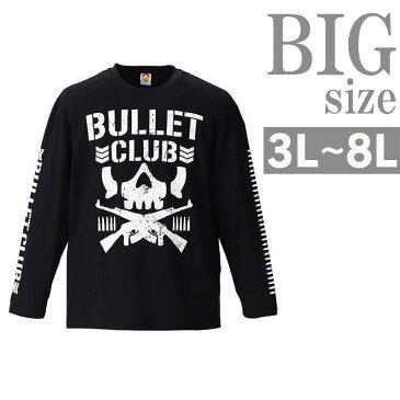 Tシャツ 長袖 大きいサイズ メンズ クルーネック BULLET CLUB 新日本プロレス C300912-17