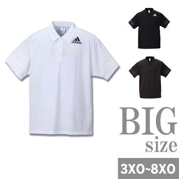 ポロシャツ adidas アディダス 半袖 大きいサイズ メンズ半袖ポロシャツ スポーツ メッシュ C300921-13