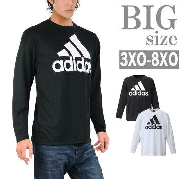 Tシャツ adidas 大きいサイズ メンズ アディダス 長袖tシャツ プリントtシャツ クルーネック C300925-07