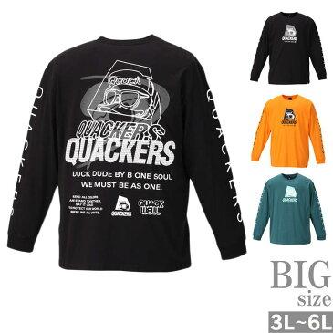 DUCK DUDE 長袖Tシャツ 大きいサイズ メンズ ダックデュード プリントtシャツ キャラT C010906-07