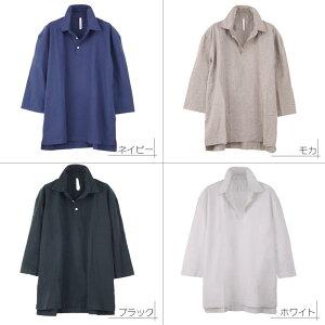 プルオーバーシャツ メンズ リネン 麻シャツ 七分袖シャツ 涼しい ゆったり ルーズ R020306-06