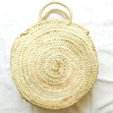 【数量限定】モロッコナチュラルラウンドかごバッグマルシェバッグバスケットカゴバッグモロッコ雑貨バッグレディースバッグ丸形おしゃれ可愛いかわいい