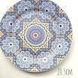 モロッコ マラテール食器 フェズ タイル柄平皿プレート20.5cm モロッコ雑貨 タイルゼリージュ おしゃれプレゼントギフトPORCELAINE-TAJMOUATI
