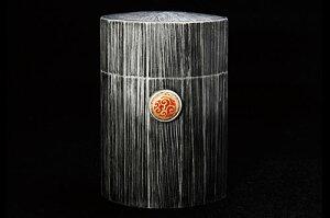 薩摩錫器 BARON SUZU KURETAKE(茶筒)黒