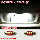 メルセデスベンツ Aクラス W168 LED ナンバー灯 ライセンスランプ 警告灯 T10x36mm(37mm) キャンセラー内蔵 ホワイト